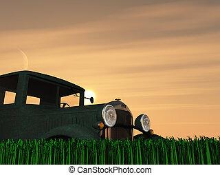 Antique Truck Sun