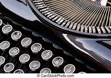 Antique Typewriter - Close up of antique typewriter