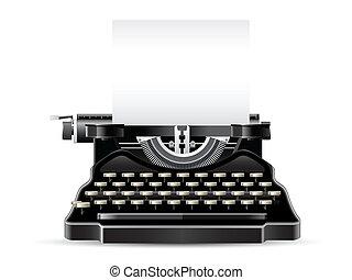 Antique Typewriter - Front view antique typewriter with ...