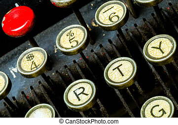 Antique typewriter keyboard stock photo images you 39 ll love for What can you do with old keys