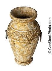 Antique vase isolated on white.