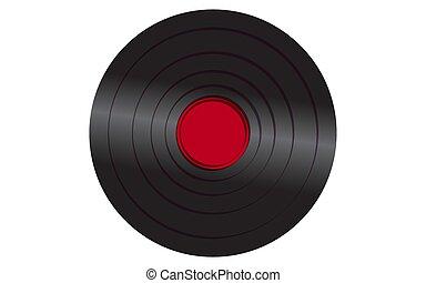 antique vieux, centre, enregistrement, vendange, blanc, illustration, musical, arrière-plan., vecteur, noir, retro, iridescent, hipster, phonographe, analogue, rouges, vinyle