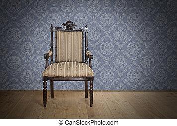 antique vieux, fauteuil, ere victorienne