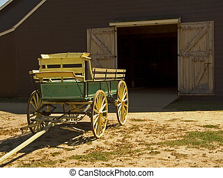 Antique Wagon - This is a shot of an antique farm wagon.