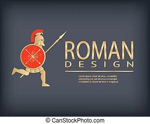 Antique warrior logo template
