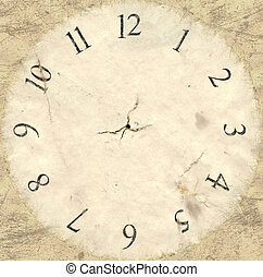 Antique Watch Face Backing