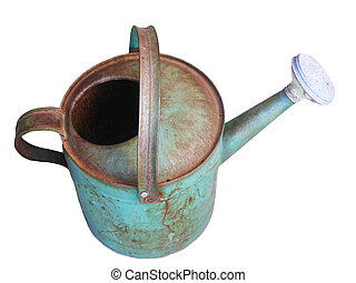 Antique Watering Can Isolated
