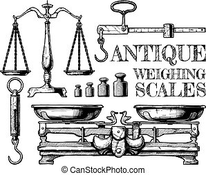 Antique weighing scales