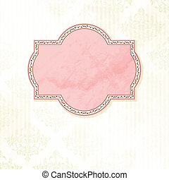 Antique white wedding label
