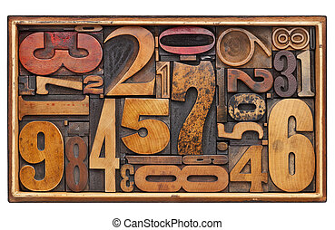antique wood number abstract - number abstract - random ...