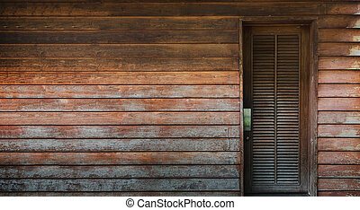 antique wood wall and door architecture background