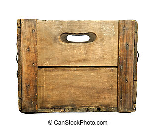 Antique Wooden Beer Case - Looking through the handle holes...