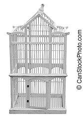 Antique Wooden Birdcag