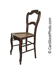 Antique wooden chair - 3/4 Front view - Antique wooden chair...