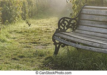 Antique Wooden Chair at Church Courtyard