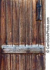 Antique wooden door background