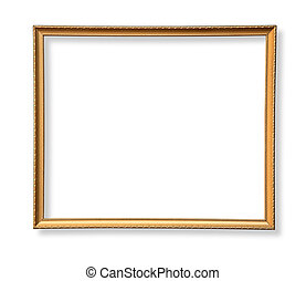 antique wooden frame  isolated
