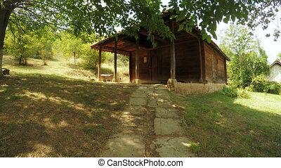 Antique wooden house