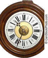 ANTIQUE WOODEN PENDULUM CLOCK