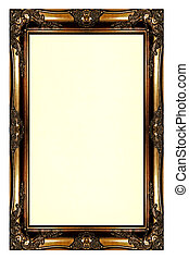 Antique Wooden Picture Frame - Stock Photo - Antique wooden ...