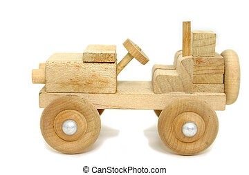 Antique Wooden Toy Car