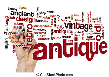 Antique Word Cloud Concept