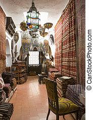 Antiques dealer, Tangier, Morocco