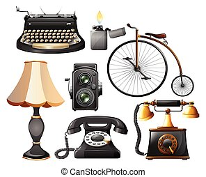 Antiques - Different kind of antique objects