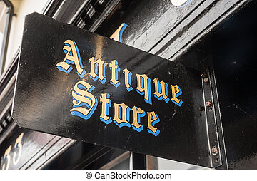 antiques shop sign