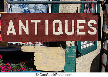 """Antiques"" sign"