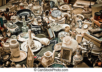 Antiques - Vintage image of various antiques gathered ...