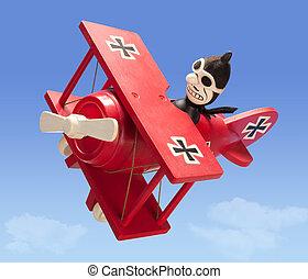 antiquité, avion, jouet