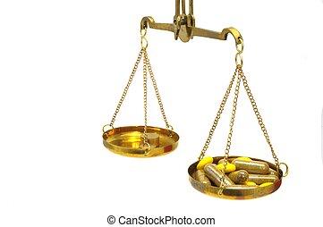 antiquité, balance équilibre