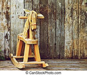antiquité, balancer, horse.