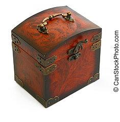 antiquité, bois, coffre