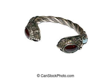 antiquité, bracelet, géorgien, mariage