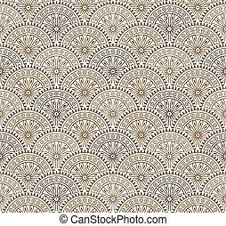 antiquité, brun, papier peint, floral, seamless