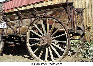 antiquité, chariot, vieux