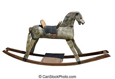 antiquité, cheval bascule