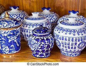 antiquité, chinois, vase