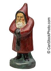 antiquité, claus, figurine, santa