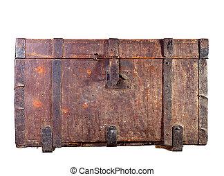 antiquité, coffre, bois