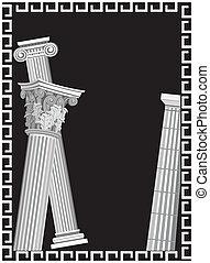 antiquité, colonnes