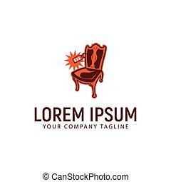 antiquité, concept, coût, conception, gabarit, logo, chaise