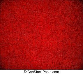 antiquité, cuir, toqué, rouges, fond