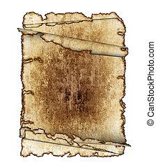 antiquité, défilements, grunge, vendange, trois, texture, pages, papier, détaillé, fond, textured, hautement, parchemin