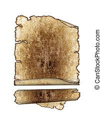 antiquité, détaillé, défilements, grunge, vendange, page, texture, hautement, papier, fond, textured, parchemin