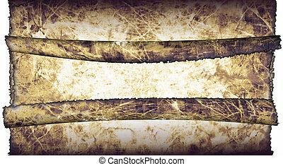 antiquité, détaillé, défilements, grunge, vendange, pages, texture, hautement, papier, fond, textured, parchemin