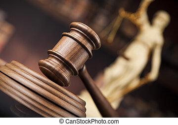 antiquité, droit & loi, fond, justice, livres, statue