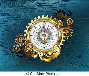 antiquité, engrenages, compas